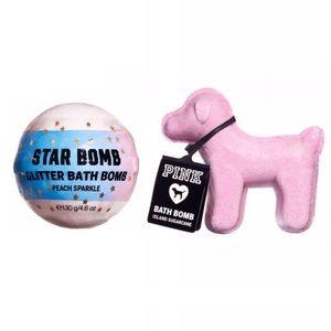 VS PINK Glitter Star & Pink Dog Bath Bomb Set